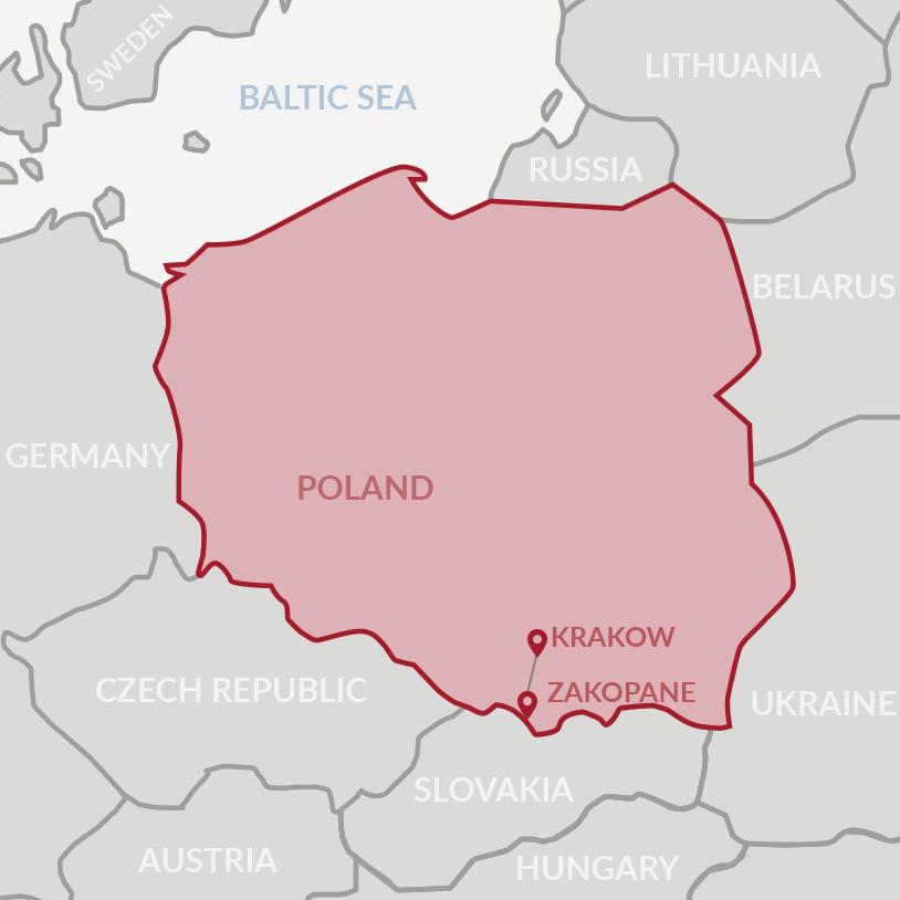 Map Of Germany Krakow.Krakow Zakopane Supertour Dmc Poland